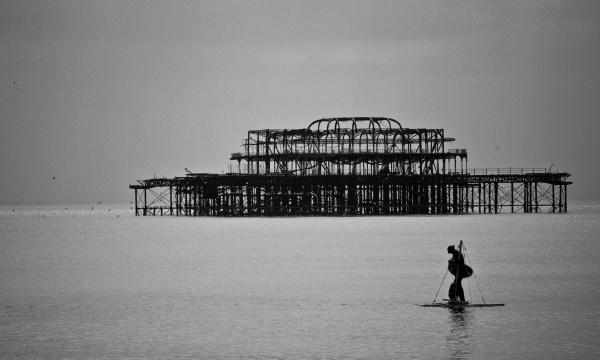 Man Adrift - Brighton Rocks