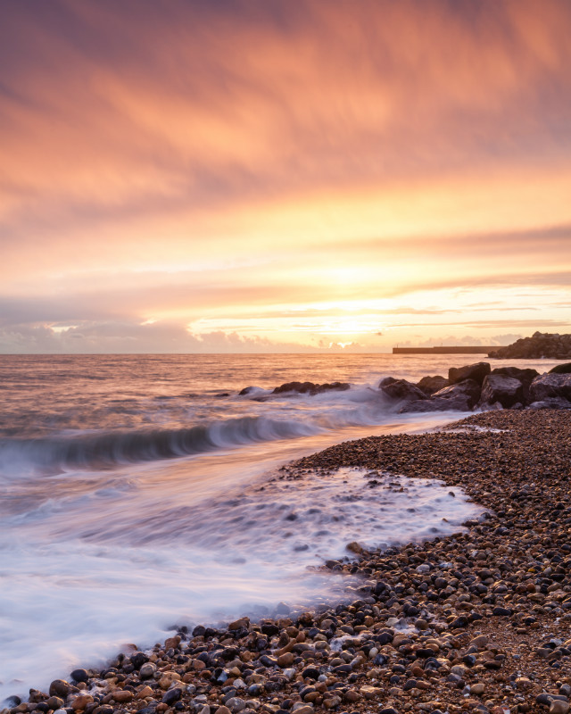 Southwick Sunset - Seascape