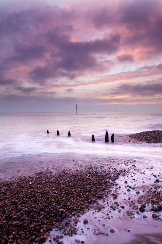 Portslade Sunset - Seascape