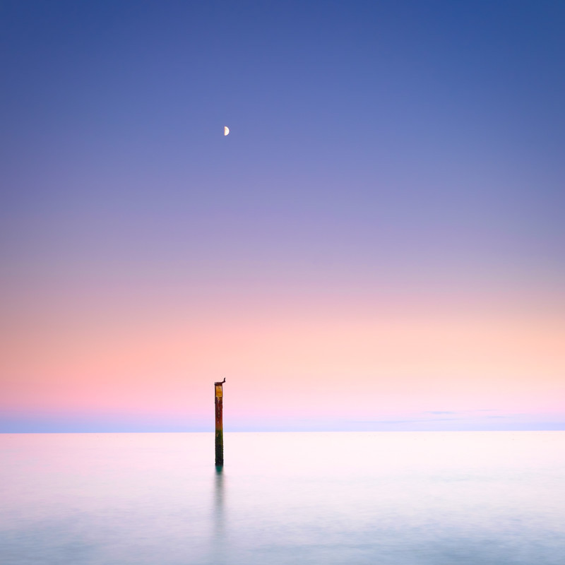 The Moon and the Sea - Seascape