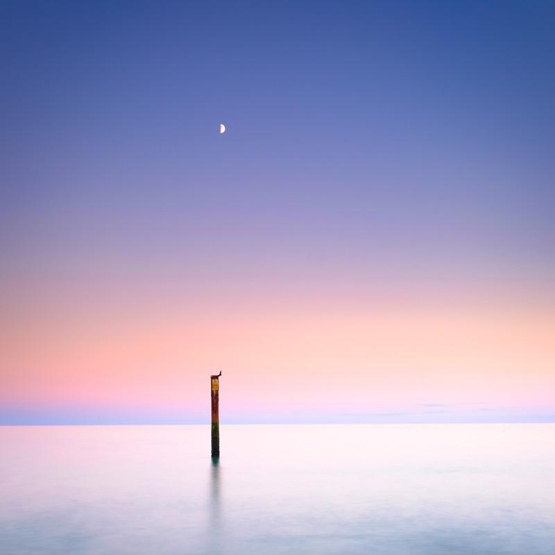 The Moon and the Sea - Seascape