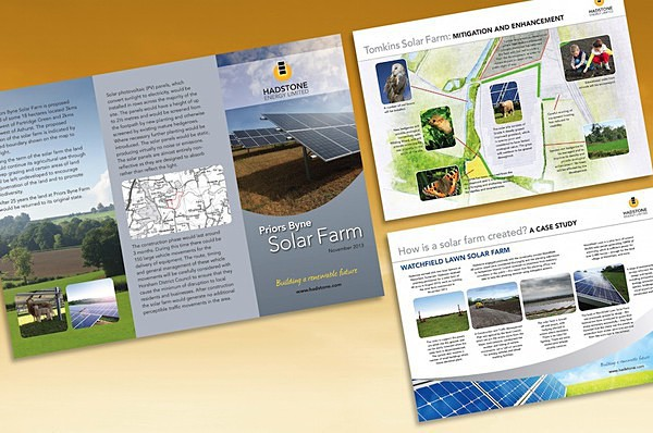 Hadstone leaflet  info boards - Graphic Design
