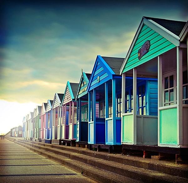 Coloured Beach Huts Southwold - Landscapes