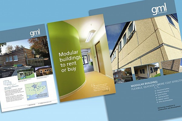 GML brochure for modular buildings - Graphic Design