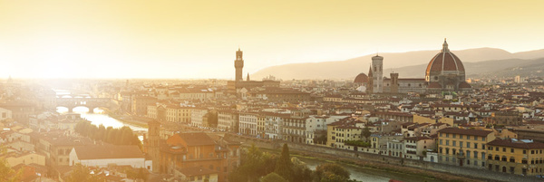 Evening over Florence - Landscapes
