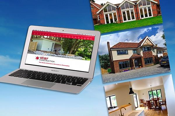Star Construction web branding - Graphic Design