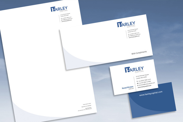 Harley Capital logo and stationery design - Graphic Design