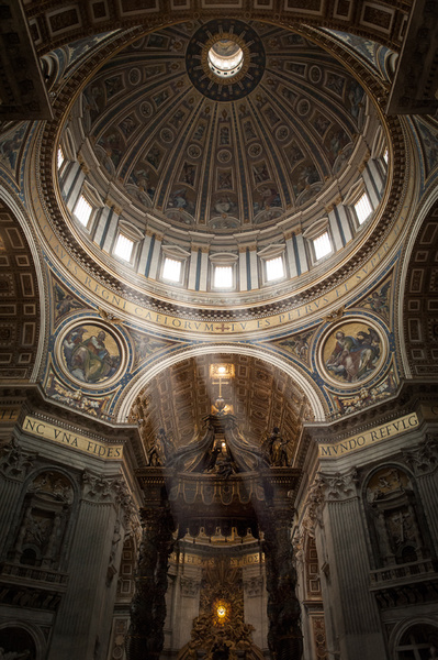 St Peter's interior at the Vatican - Travel