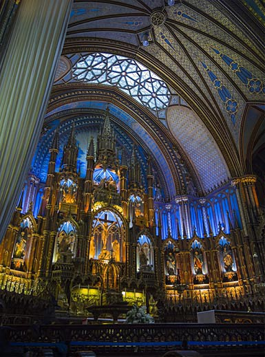 Interior of Montreal Cathedral - Travel