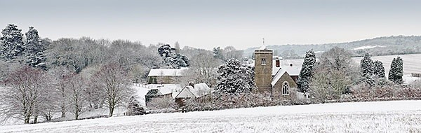 Trosley Church in the Snow - Landscapes