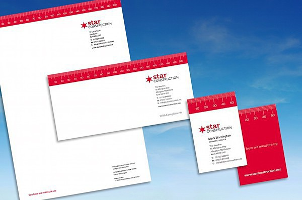 Star Construction stationery - Graphic Design