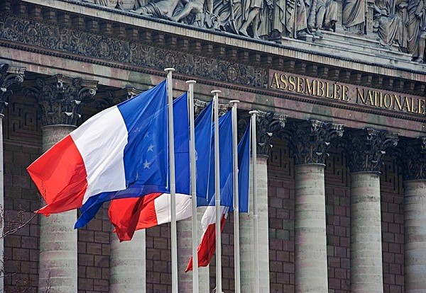 French flags in Paris - Travel