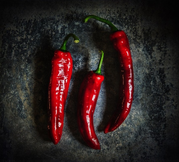 Sweet Red Peppers - Still Life