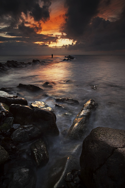 Lone Fisherman - Hampshire, Dorset and Devon