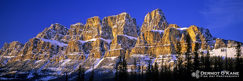 Castle Mountain - Panoramic Horizontal Images