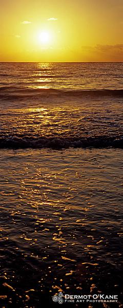 Ocean Sunrise - Panoramic Vertical Images