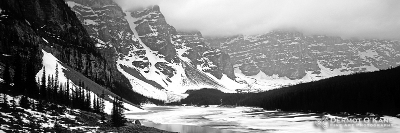 Moraine Lake Winter - Panoramic Horizontal Images