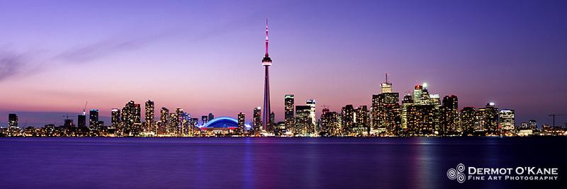 Beautiful Day - Toronto Skyline - Panoramic Horizontal Images