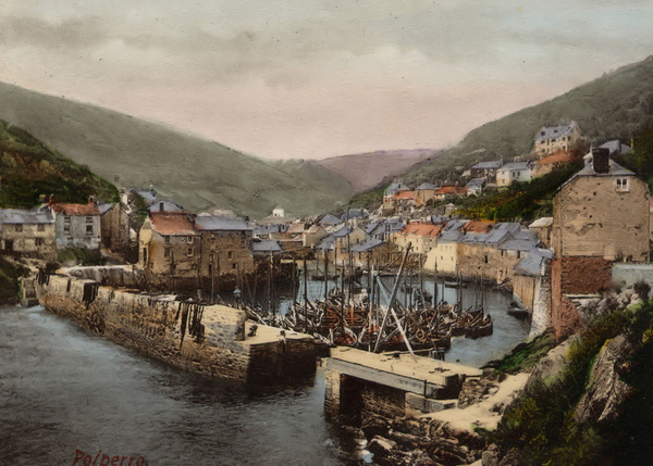 Polperro The Outer Harbour 2 - Old Photos of Polperro