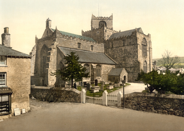 Lake District Cartmel Church 13 - Old Photos of Lake District