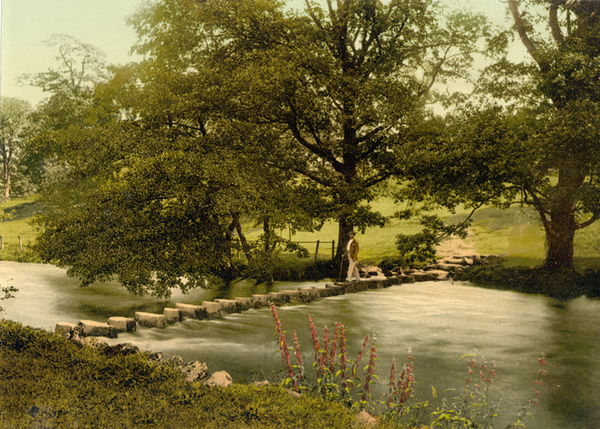 Lake District Ambleside Stepping Stones 4 - Old Photos of Lake District