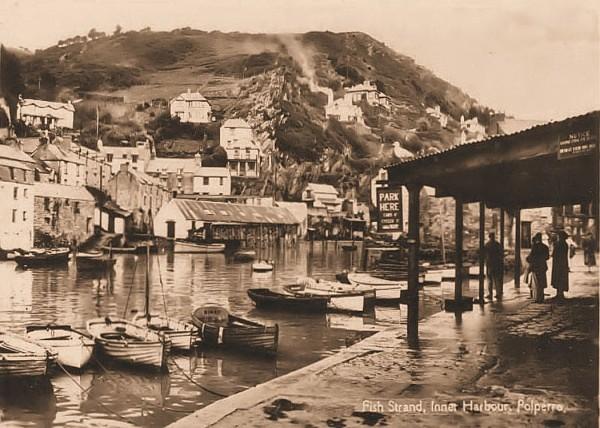 Polperro Harbour  10 - Old Photos of Polperro