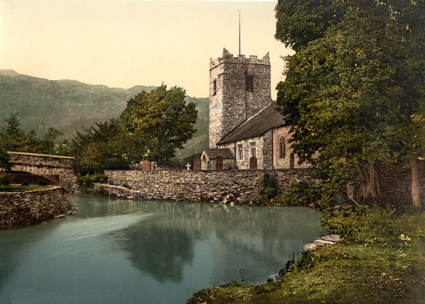 Lake District Grasmere Church 31 - Old Photos of Lake District