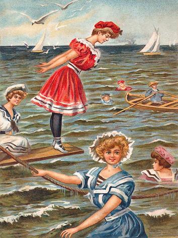 Victorian Beach Scene 2 - Edwardian Beach Scenes