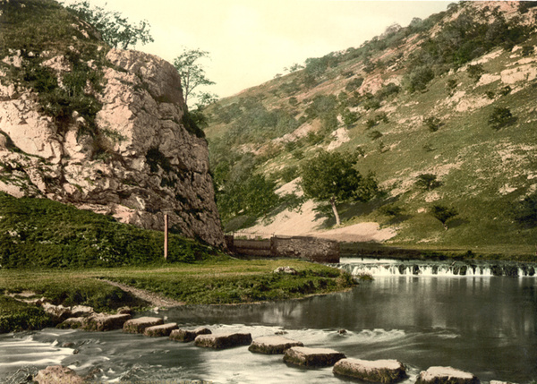 Peak District Dovedale Stepping Stones 10 - Old Photos of Peak District