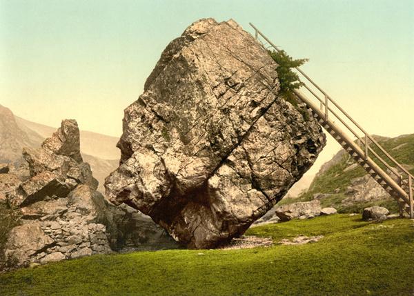 Lake District Bowder Stone 10 - Old Photos of Lake District