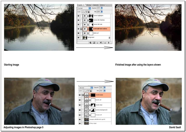 Adjusting local tonal range using Levels page 2. - Tutorials - creative Photoshop technique