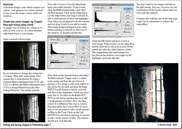 Tinting and Toning images page 7 - Tutorials - creative Photoshop technique