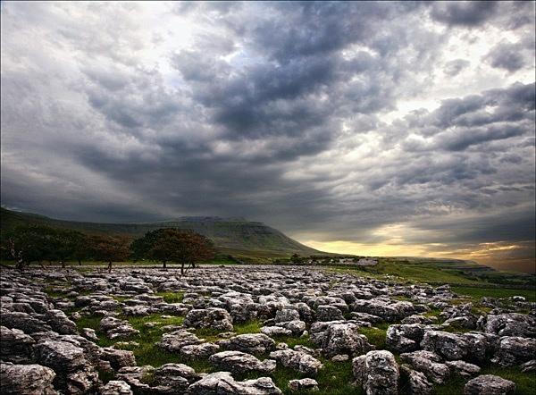 Stormy sky over Ingleton - Colour Landscape