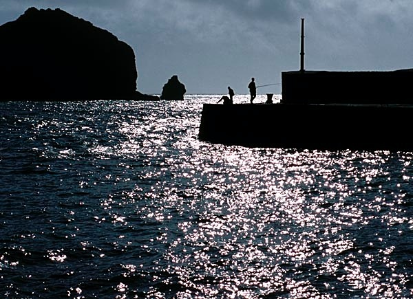 Boys fishing, Cornwall - People and Places
