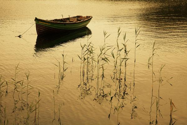 Evening boat, Killarney - Colour Landscape