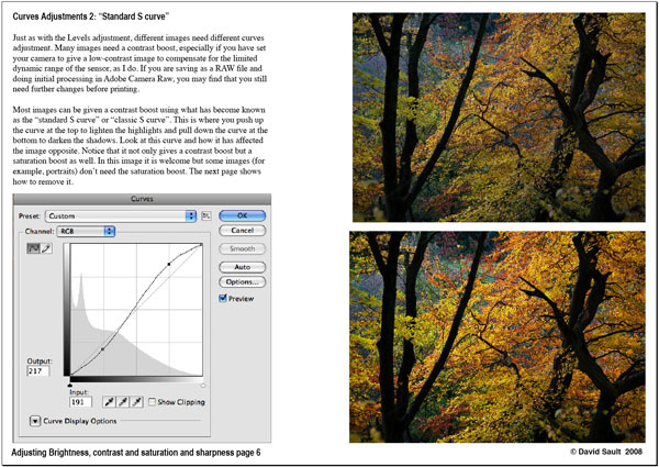 Adjusting Brightness, contrast, saturation and sharpening page 6 - Tutorials - creative Photoshop technique