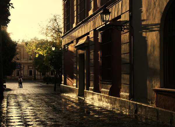 Sunlight after rain, Seville - People and Places