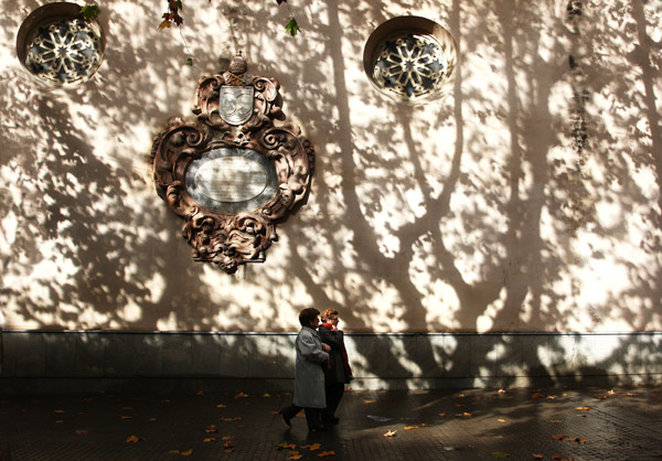 Tree shadows, Seville - People and Places