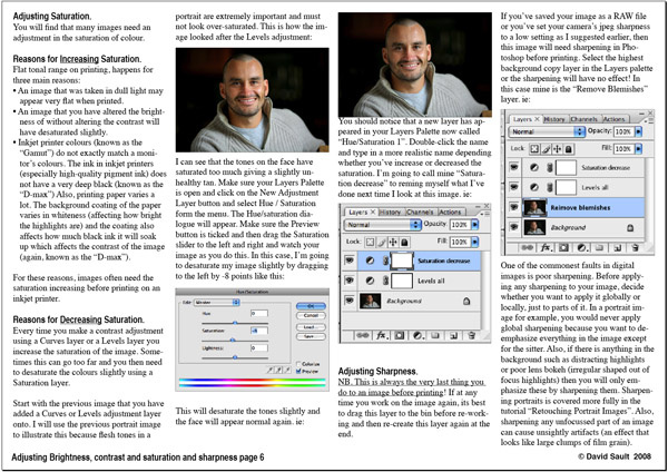 Adjusting Brightness, contrast, saturation and sharpening page 7 - Tutorials - creative Photoshop technique