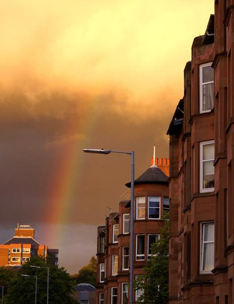 Shawlands rainbow - Glasgow