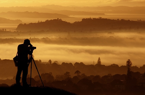 Photographer silhouette - Auckland