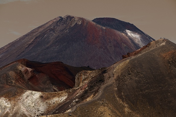 Descent from tongariro - New Zealand North Island