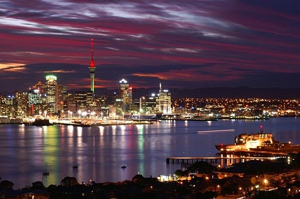 Waitemata harbour sunset - Auckland
