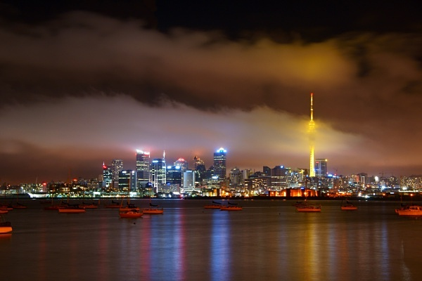 Low cloud skyline - Auckland