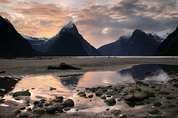 Milford sound sunset - Extremes of New Zealand