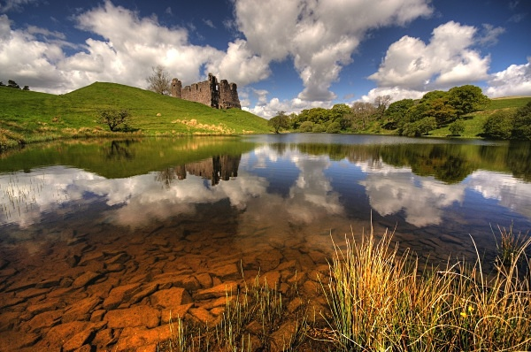 Morton castle reflection - Dumfries and Galloway