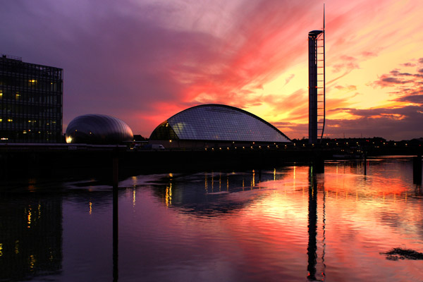 Sunset over Glasgow Science Centre - Glasgow