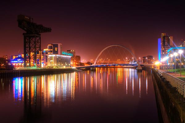 Squinty bridge and Finnieston crane - Glasgow