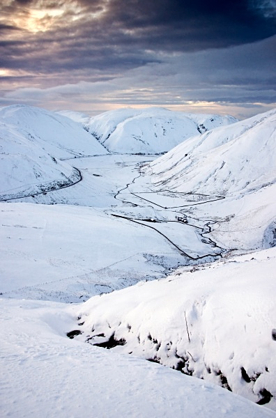The Dalveen pass in winter - Dumfries and Galloway