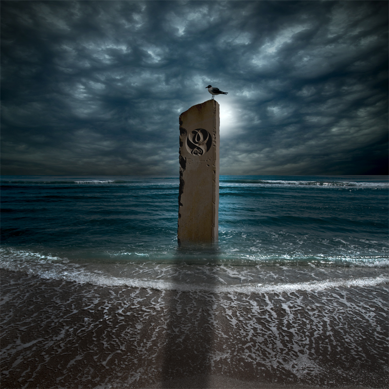 Monument in Moonlight - Surrealism - Color